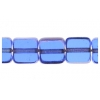 Fire polished 6X6mm Square Sapphire Lamp/window Beads